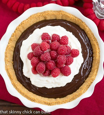 Chocolate Satin Pie | Dreamy chocolate filling in a graham cracker crust!