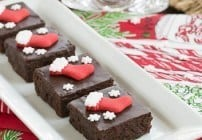 Fudgy Red Wine Brownies #SundaySupper