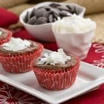 Mounds Brownie Cupcakes #ChristmasWeek