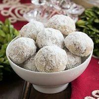 Noel Nut Balls in a white dish