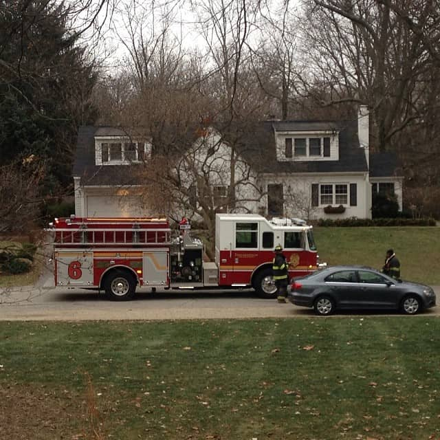 Firetruck at our house