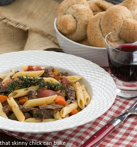 Beef Burgundy Pasta-perfect comfort food |That Skinny Chick Can Bake | http://thatskinnychickcanbake.com
