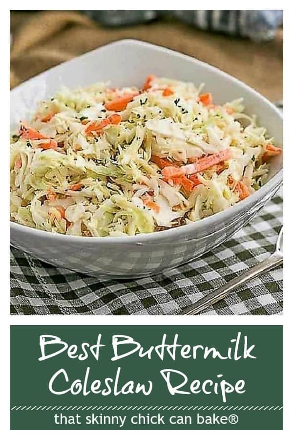 Best Buttermilk Coleslaw Pinterest collage