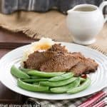 Slow Cooker Coffee Glazed Brisket #SundaySupper