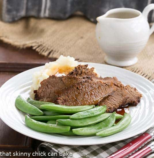 Coffee Glazed Brisket | A slow cooked, tender and flavorful beef brisket recipe!