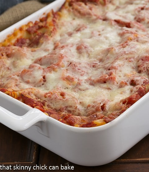 Easy Sausage and Mushroom Lasagna |That Skinny Chick Can Bake | http://thatskinnychickcanbake.com
