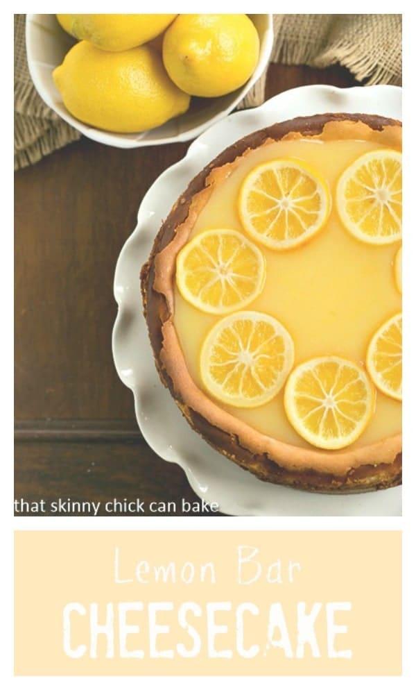 Lemon Bar Cheesecake | A luscious citrus cheesecake loaded with lemon curd