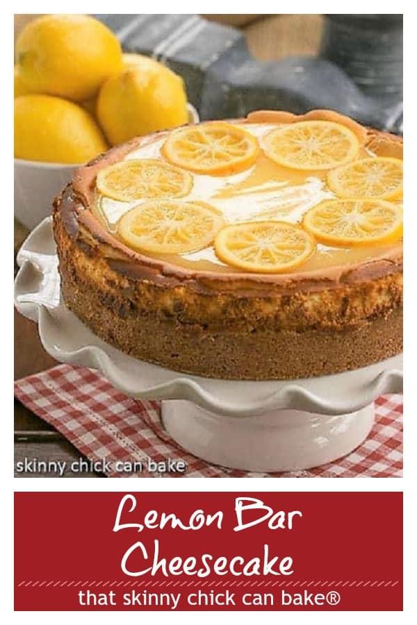 Lemon Bar Cheesecake Pinterest collage