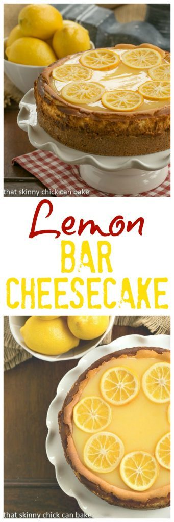 Lemon Bar Cheesecake | A luscious citrus cheesecake loaded with lemon curd