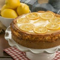 Lemon Bar Cheesecake | That Skinny Chick Can Bake