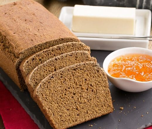 Whole Wheat Molasses Quick Bread   That Skinny Chick Can Bake