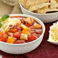 Chicken and Bell Pepper Chili | This unusual, pepper filled chicken chili is ALWAYS a hit!