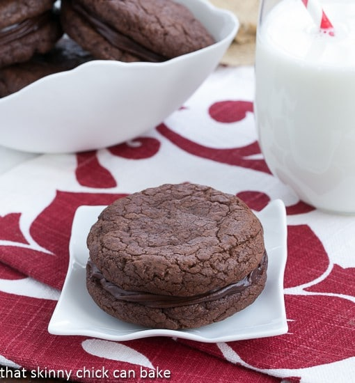 Chocolate Coma Sandwich Cookies