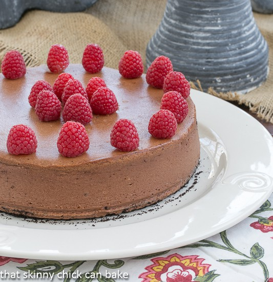 Chocolate-Mascarpone Cheesecake | That Skinny Chick Can Bake | http://thatskinnychickcanbake.com