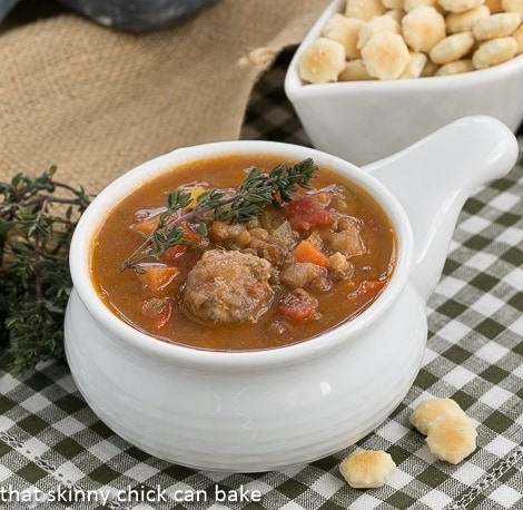 Sausage, Lentil and Vegetable Chowder