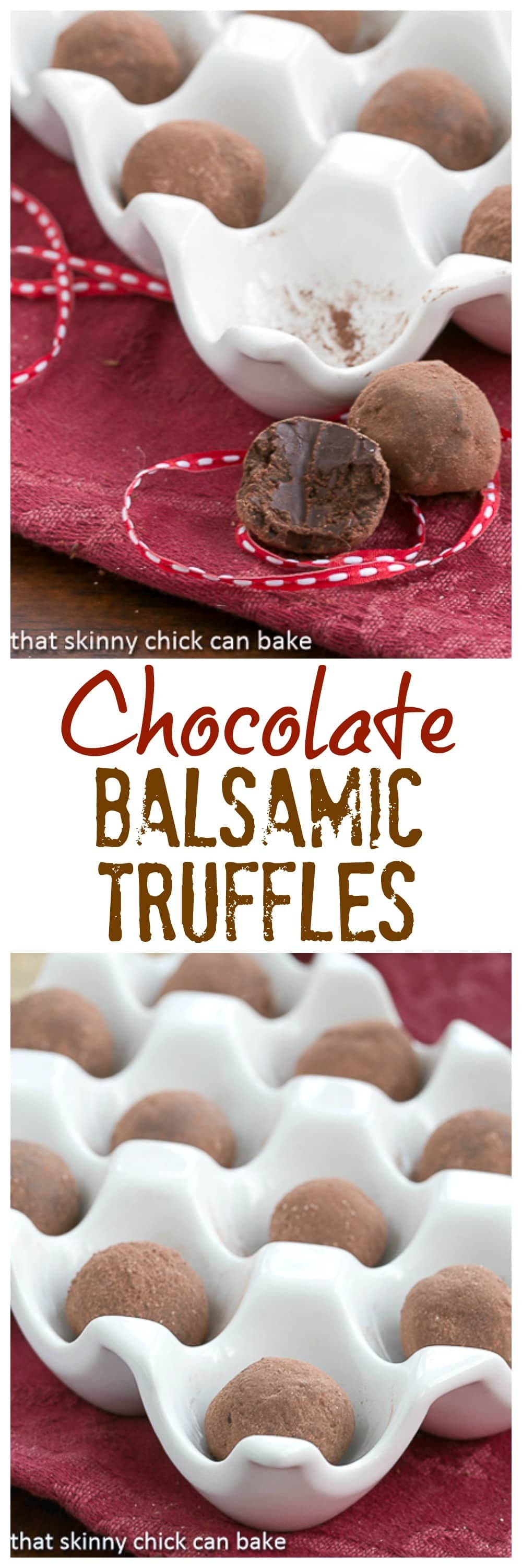Chocolate Balsamic Truffles | Luscious chocolate candy with a certain je ne sais quoi