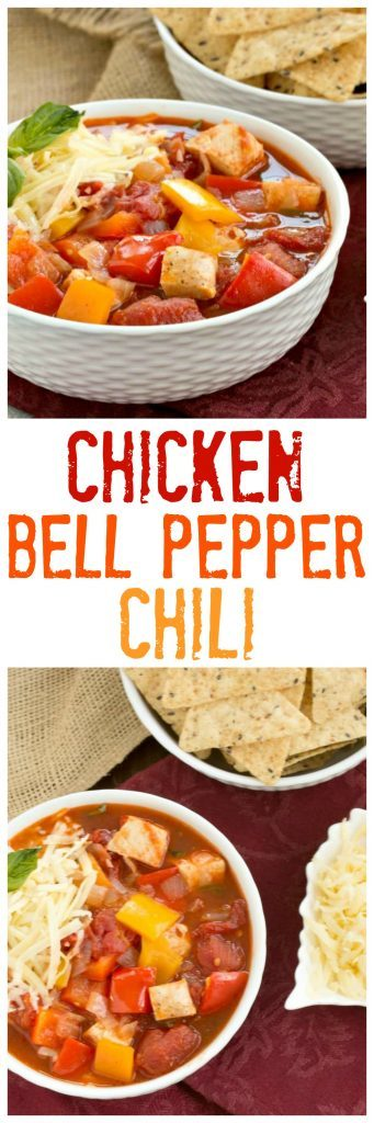 Chicken and Bell Pepper Chili collage