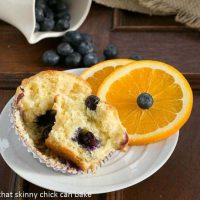 Blueberry Orange Muffins - tender, citrus kissed and chock full of juicy blueberries