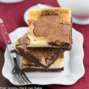 Cheesecake Swirl Brownies   Two delicious desserts in one!
