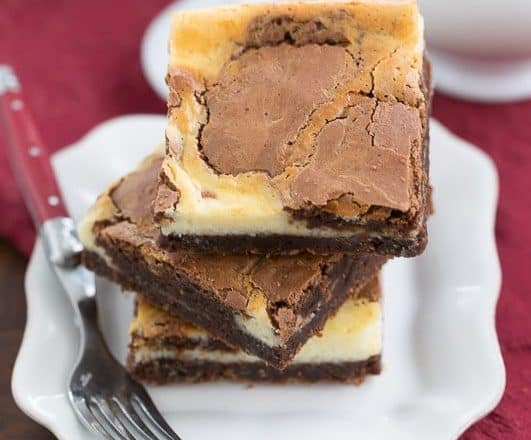 Cheesecake Swirl Brownies | Two delicious desserts in one!