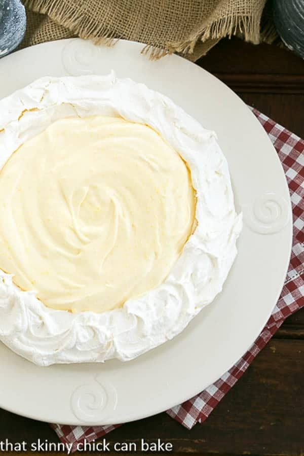 Lemon on a Cloud |luscious lemon and meringue dessert