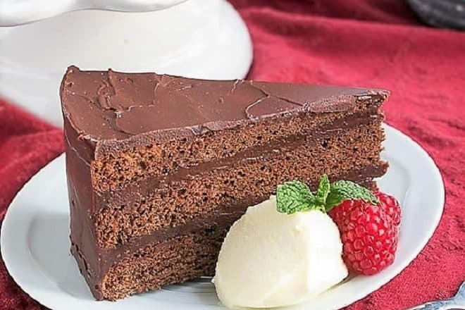 Slice of Mocha Brownie Cake featured image