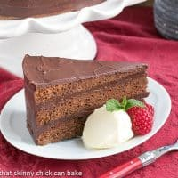 Mocha Brownie Cake | An exquisite 3 layer cake filled and iced with a dreamy ganache