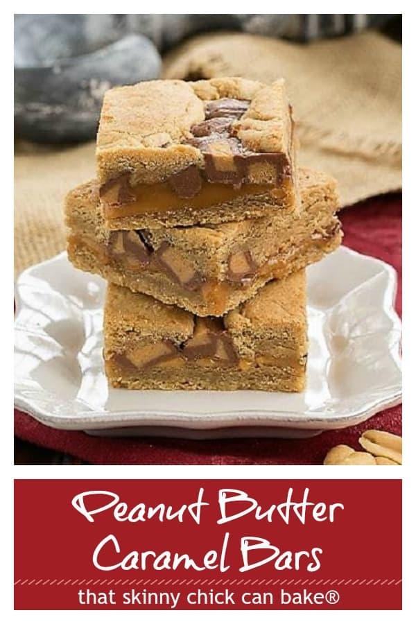 Peanut Butter Caramel Bars pin image