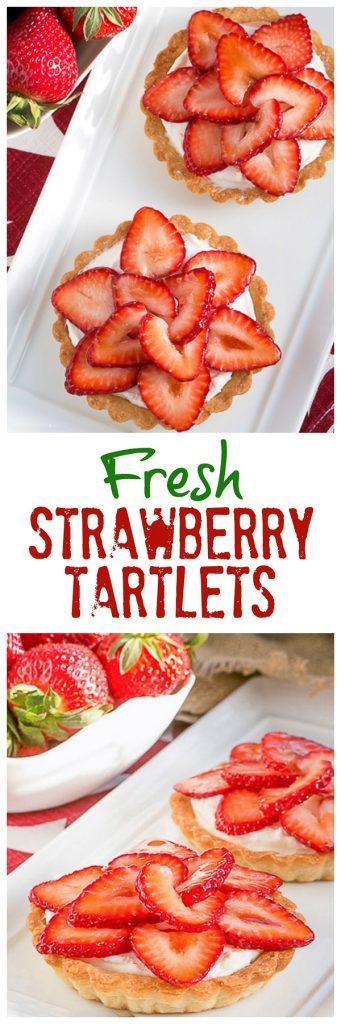 Fresh Strawberry Tartlets collage