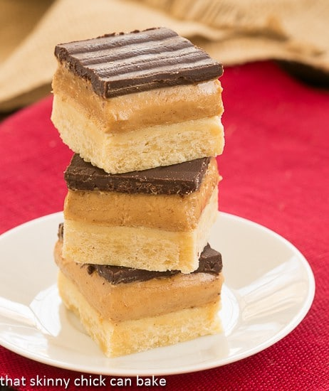 Peanut Butter & Chocolate Shortbread Bars Recipe — Dishmaps