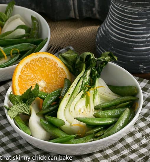 Bok Choy, Sugar Snaps and Garlic en Papillote | A Dorie Greenspan recipe