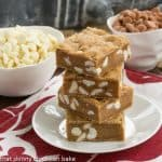 Butterscotch Blondies with White Chocolate Chips #TwoSweetiePies