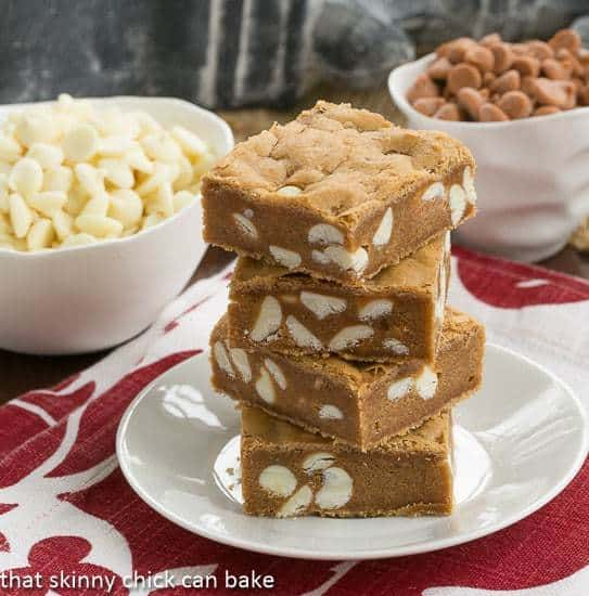 Butterscotch Blondies with White Chocolate Chips