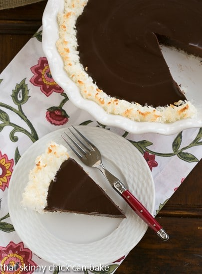 Coconut Crusted Chocolate Ganache Pie (3)