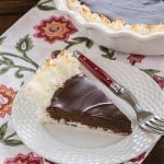 Coconut Crusted Chocolate Ganache Pie #SundaySupper