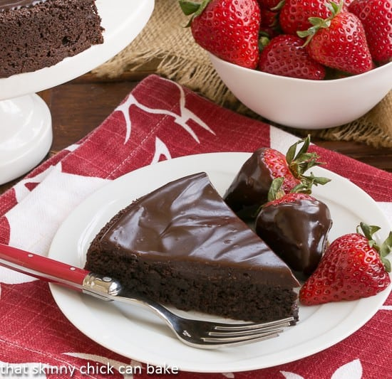 Flourless Double Chocolate Cake | An intensely chocolate cake for you chocoholics!