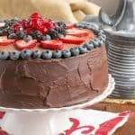 Layered Chocolate Mousse Cake #SundaySupper