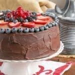 Layered Chocolate Mousse Cake #SundaySupper