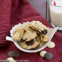 Oatmeal, Cherry and Chocolate Chip Cookies