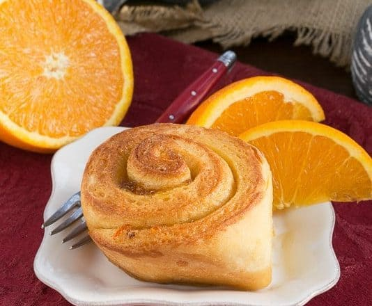 Orange Marmalade Filled Sweet Rolls