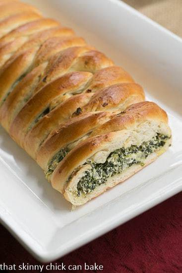 Spinach and Onion Braid - A marvelous braided yeast bread filled with spinach and onions
