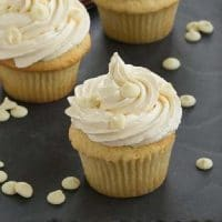 Vanilla Cupcakes with White Chocolate Buttercream featured image