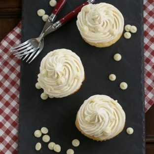 Vanilla Cupcakes with White Chocolate Buttercream