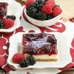 Berry Topped Cheesecake Bars #TwoSweetiePies #SkinnyTip