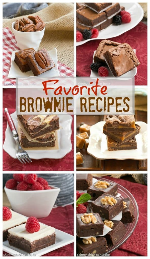 Favorite Brownie Recipes photo colllage for Pinterest
