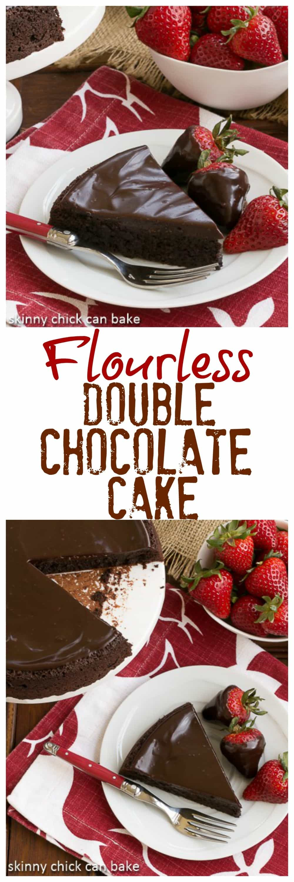 Flourless Double Chocolate Cake - An intensely chocolate cake for you chocoholics #chocolate #flourless #onelayer #cake