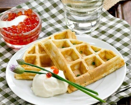 Smoked Salmon Waffles | Waffles with a savory twist!