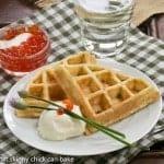Smoked Salmon Waffles #FrenchFridayswithDorie #SkinnyTip