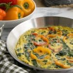 Spinach Bell Pepper Frittata #BrunchWeek #Giveaway