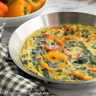 Spinach Bell Pepper Frittata featured image